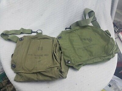 $29.99 • Buy Lot Of 2 Vintage U.S. Military M 17 S Mask, Protective, Field Bag