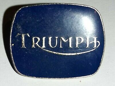 Vintage Triumph Motorcycle Pin Badge • 2£