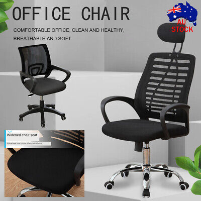 AU71.56 • Buy Executive Office Chair Ergonomic Gaming Chair Computer Mesh Seat Lift Swivel AU