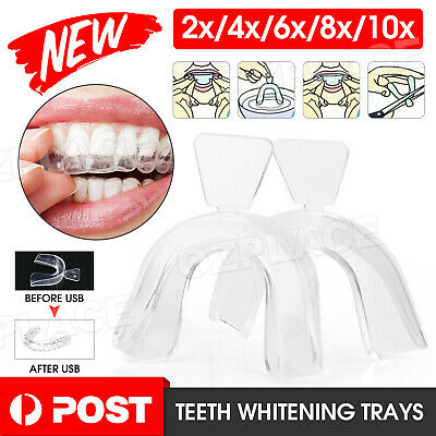 AU5.95 • Buy Teeth Whitening Mouth Trays Custom Self Mould Thermo Plastic Ultra Clear Guards
