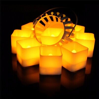 12PCS Flameless LED Candles Battery Tea Light Flickering Christmas Wedding Party • 2.98£
