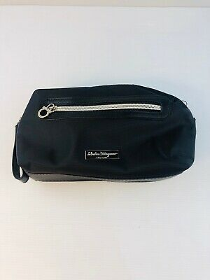 AU20 • Buy Salvatore Ferragamo Black Singapore Airlines Toiletries Bag