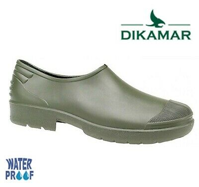 SALE  MENS LADIES Sturdy Gardening Clogs Welly Shoes - Green PVC Size EU 42 UK 8 • 10.95£