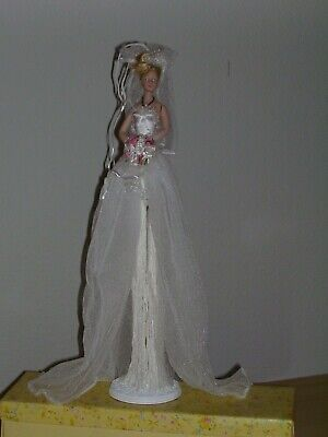 $ CDN46.67 • Buy Popular Creations Victorian White Bride Porcelain Hands And Face Tassel Doll