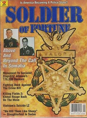 $ CDN3.19 • Buy SOLDIER OF FORTUNE Mag Sep 1994 Amer Police State?, Albania, Sudan, Somalia More