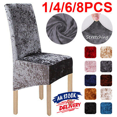AU29.99 • Buy Crushed Velvet Dining Chair Covers Stretchable Protective Slipcover Home Decor