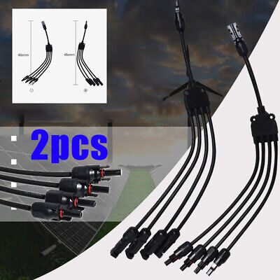 AU16.35 • Buy 1 To 4 Y Type Solar Panel Cable Connector Male Female Wire Branch