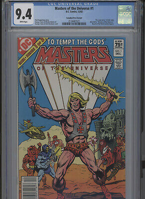 $119.99 • Buy Masters Of The Universe #1 Nm 9.4 Cgc Canadian Price Variant White Pages Tuska