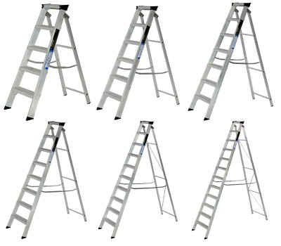 Aluminium Step Ladder Class 1 Folding Industrial Trade Youngman Heavy Duty Steps • 143.61£
