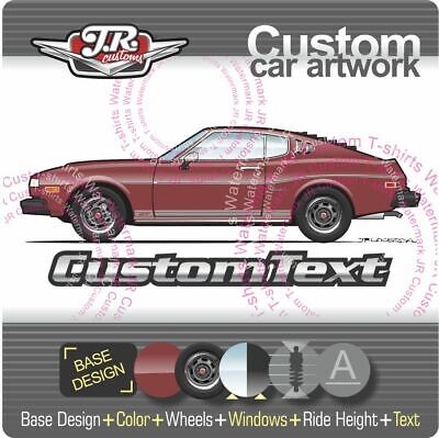AU8.89 • Buy Custom 1976 1977 76 77 Toyota Celica GT RA29 Liftback 20R 2.2 Art For T-Shirt