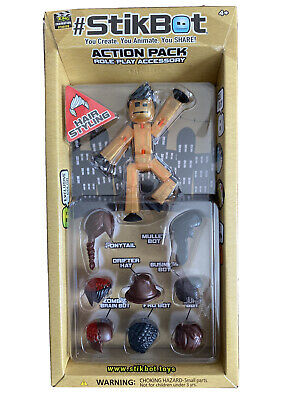 StikBot Action Pack - Hair Styling 10 Pieces NIB Zing • 5.64£