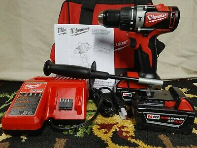 Milwaukee•2902-22•M18 Brushless 1/2 In. Hammer Drill Set•Two 4.0Ah Batteries•New • 190.56£