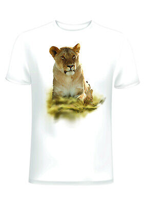 £9.99 • Buy Female Lion' Unisex Printed T-Shirt – Cotton With Lioness Image