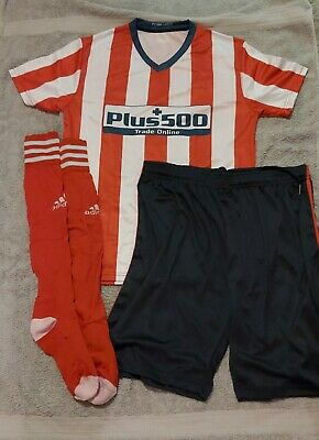 £365 • Buy Mens Full Team Adult Football Kits Red And White Replica Kit. 19 Kits Numbered