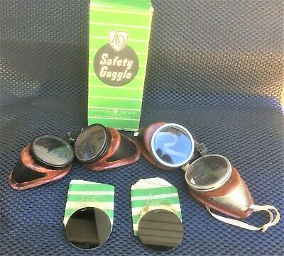 $14.99 • Buy REDUCED AGAIN-2 Antique Bakelite Welding Goggles Glasses-Steampunk-Vintage