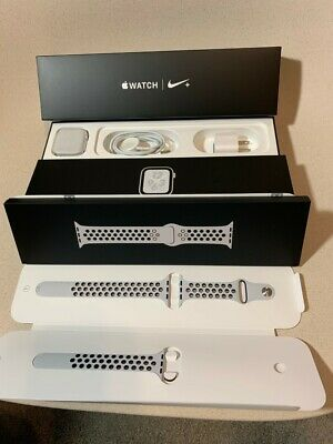 $ CDN300.67 • Buy Used Apple Watch Series 4 Nike+ 44 Mm Silver Aluminum Case With Pure...