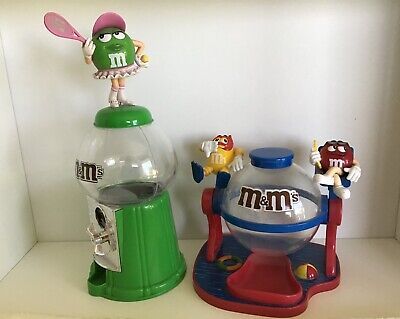 AU21.50 • Buy Two M&m Chocolates Miss Green Tennis Player With Pink Hat & Lifeguards Dispenser
