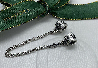 AU33 • Buy Pandora Floral Flower Sterling Silver Safety Chain Charm 790385 Authentic Ale