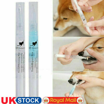 Pets Dogs Cats Teeth Repair Pen Dental Cleaning Tartar Plaque Remover Tools O4F3 • 7.63£