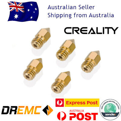AU19.99 • Buy Creality 5PCS 3D Printer 1.75mm MK8 Extruder Nozzle For Ender 3 PRO CR10