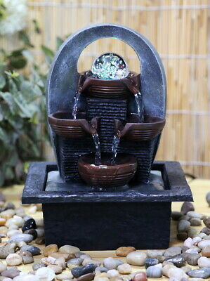£20.99 • Buy Cascading Indoor LED Water Fountain Garden Water Feature With Lights Home Decor