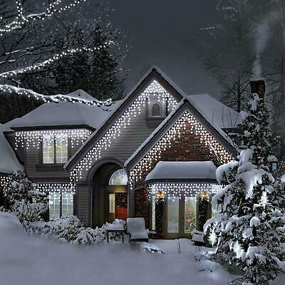 Christmas Led White Snowing Icicle Bright Party Wedding Xmas Outdoor Lights. • 69.99£