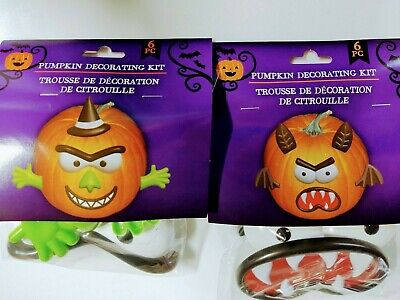 $ CDN14.94 • Buy Pumpkin Decorating Kit - Push In Pieces Lot Of 2  Brand New EASY TO DO SCARY..