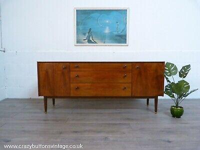 G Plan E Gomme Teak And Walnut Mid-Century Sideboard • 695£