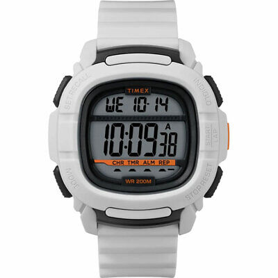 $29.99 • Buy Timex Men's Watch Command Digital Grey Dial White Rubber Strap TW5M26400