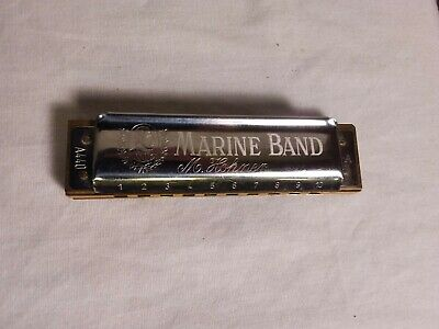 $39.99 • Buy M Hohner Harmonica, Marine Band, A440, Key Of A, Made In Germany, Diatonic