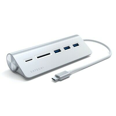 AU56 • Buy Satechi Silver USB-C Aluminium USB 3.0 Hub & Card Reader For Laptop/PC/MacBook