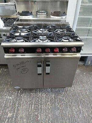 Moorwood Commercial 6 Burners Cooker With Oven Natural Gas Heavy Duty Used  • 680£