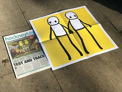 Hackney Today Newspaper With Free Stik Print Holding Hands • 300£