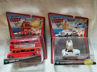 $ CDN75.27 • Buy NEW Disney Pixar Cars2 Diecast DELUXE Double Decker Bus & POPE PINION IV RARE