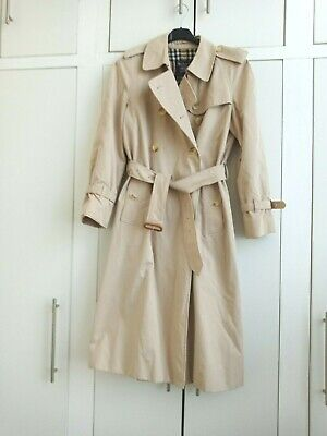 Ladies Burberrys, Long, Beige, Double-breasted, Lined Trench Coat  - Size 14 • 20£