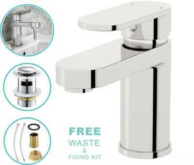 £24.50 • Buy Waterfall Bathroom Sink Taps Basin Mixer Tap Chrome Cloakroom Mono Faucet &Waste