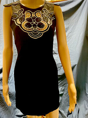 AU60 • Buy Alice McCall Black Boho Designer Cutout Mini Short Dress Detailed T Back Size 10
