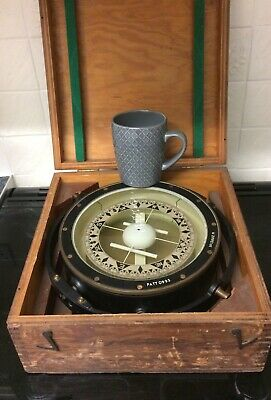 Vintage Ships Compass (Patt No 0995) In Travel Box • 350£