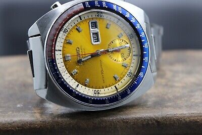 $ CDN1474.88 • Buy 1970' SEIKO 6139-6001 POGUE Chronograph AUTO. PROOF NOTCHED CASE, PROOF DIAL