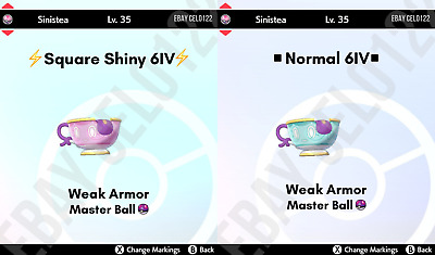 $1.99 • Buy Sinistea Normal / ⚡shiny⚡ 6iv Antique Form W/ Ms - Pokemon Sword And Shield