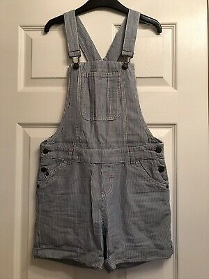Fatface Girls Dungarees - Age 12-13 - Pale Blue Pinstripe- Perfect Condition!! • 10£