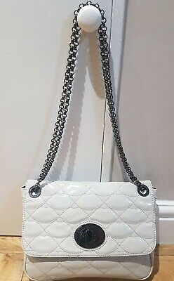 Lulu Guinness Ivory Leather Quilted Lips Annabelle Bag With Chain  • 110£