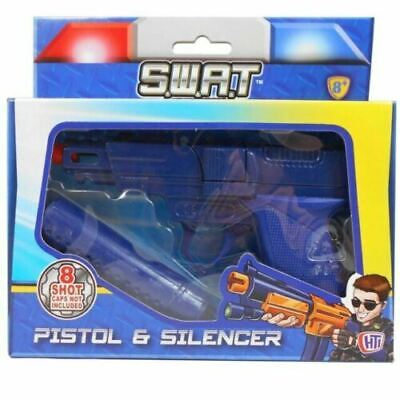 New In Box - Die Cast Metal 8 Shot Ring Cap Gun And Silencer Toy  • 7.29£