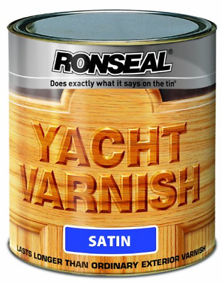 Ronseal YVS250 250ml Exterior Yacht Varnish Satin • 16.99£
