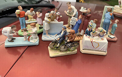 $ CDN98.18 • Buy Norman Rockwell Porcelain Figurines Lot Of 8 Very Good Condition (read) '83-'87