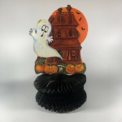 $ CDN35.81 • Buy Vintage Halloween Decoration Ghost Haunted House Centerpiece 1970's