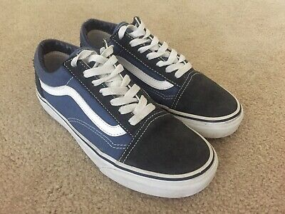 AU20 • Buy Blue And White Old Skool Vans Mens Size US 5 Womens Size US 6.5