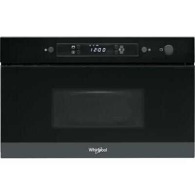 WHIRLPOOL AMW 4900/NB Black Built-In Microwave 22L, 750W • 325£