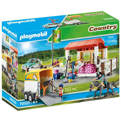 Playmobil Country Farm Play Set With Trailer Stables Horse 70325 • 43.50£