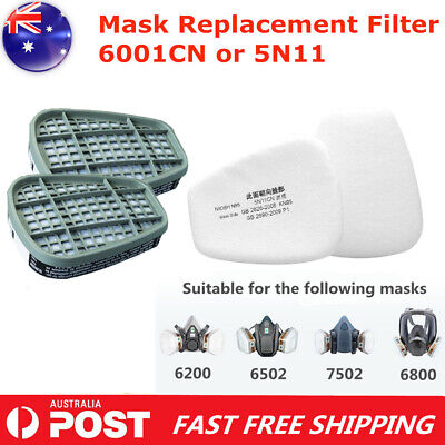 AU23.99 • Buy 6001CN Respirator Filter Cartridge / 5N11 Filter Cotton For 6800 6200 7502 MASK